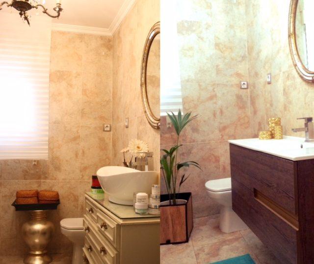 Antes y después; actualiza un cuarto de baño sin obra